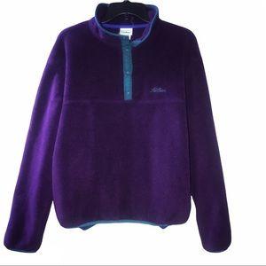 L.L. Bean   90's Vintage Fleece Snap T Pullover